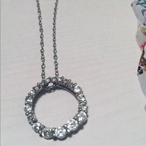 """Jewelry - Sterling Silver Infinity Open Circle Necklace 18"""""""